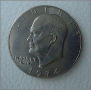 """1 Dolar 1974 """"Eisenhower"""" Image"""
