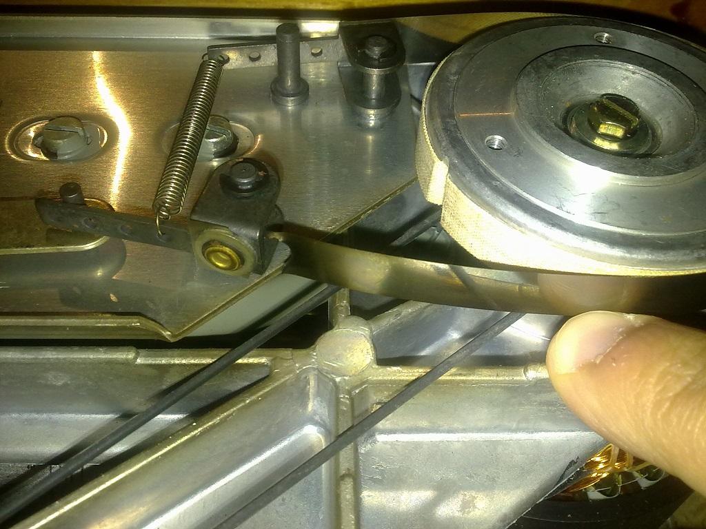 Revox A77 fita metalica do travão direito partiu Rev2