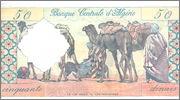 50 Dinars Argelia, 1964 P124a Algeria_P124a_50_dinars_1964_R