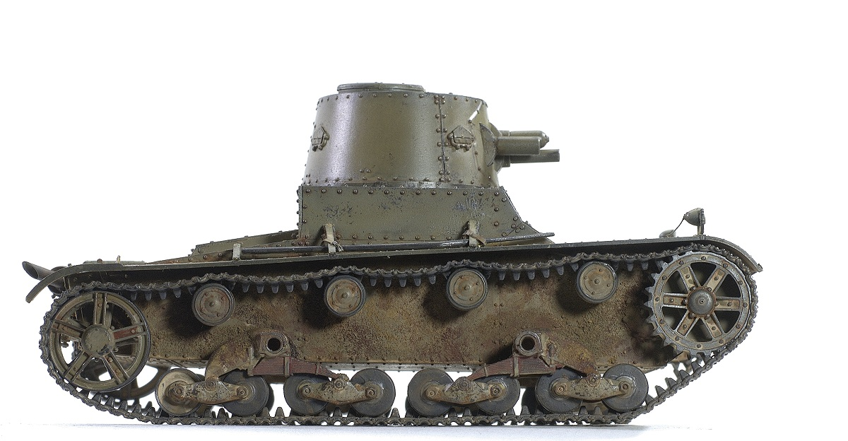 Vickers 6-Ton Light Tank Alt B Early Production. CAMs 1/35 123456