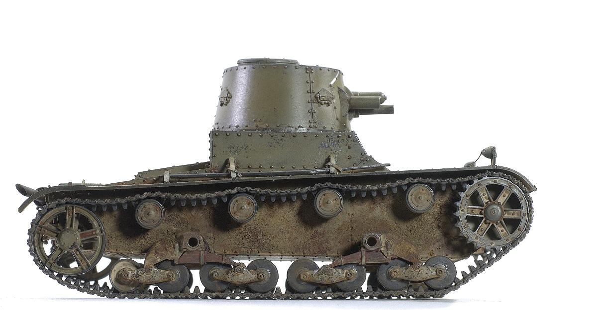 Vickers 6-Ton Light Tank Alt B Early Production. CAMs 1/35 123456