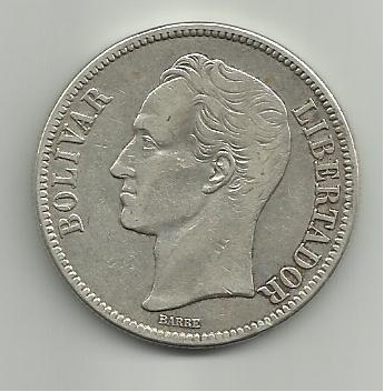 5 Bolivares de 1929 Venezuela 5_Bolivares_Venezuela_1929_anver