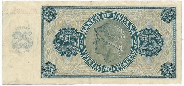 25 Pesetas de 1936 Image
