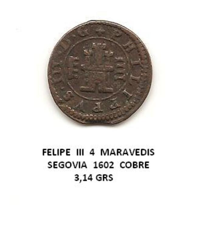 4 maravedís de Felipe III año 1602 Image