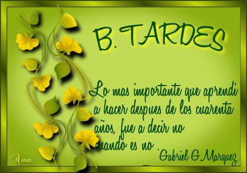 Hojas con Frase TARDES
