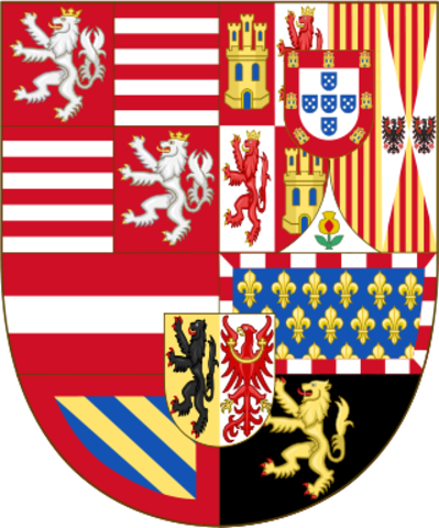 Patagón sin fecha de Alberto e Isabel 319px_Arms_of_Archduke_Albert_of_Austria_and_Inf