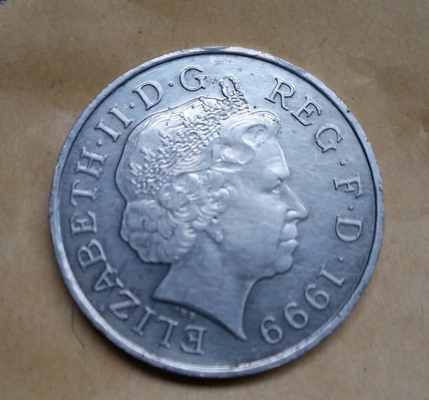 5 Libras. Reino Unido (1999) (Cambio de milénio) 20170327_120942