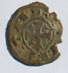 """Dinero """"Bienpeinao"""" de Alfonso VIII de Castilla  1158-1212 Toledo. Cabeza_rev"""