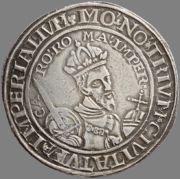 Tálero sin fecha a nombre de Carlos V (1538 - 1542) de Deventer, Kampen y Zwolle Carolusdaalder_z_j_1538_1542_a
