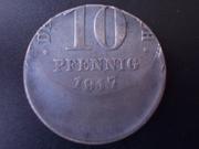 10 Pfennig 1917 A , Alemania . Muy desplazada DSCN1233