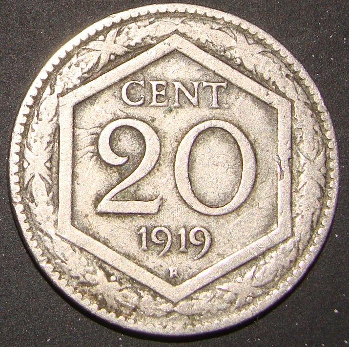 20 Centésimos de Lira. Italia (1919) ITA_20_Cent_simos_Lira_1919_rev