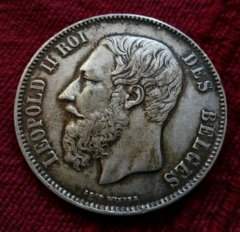 5 francos Belgica 1870 430507187_41885