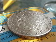 Moneda de plata de España, reinado de Fernando VII, valor facial 8 reales (26,83gr), emisión 1821, ceca MEJICO, ensayadores JJ. 20140122_121505