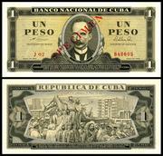 CUBA - 1, 5, 10 y 20 Pesos 1964 Cuba_94s_1_Peso_1964