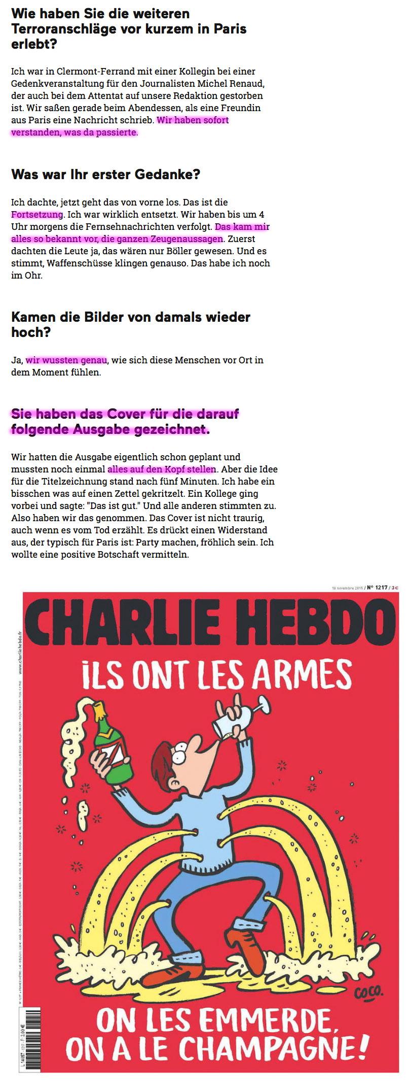 """Überfall auf französisches Satiremagazin """"Charlie Hebdo"""" 7.1.2015 Charly"""