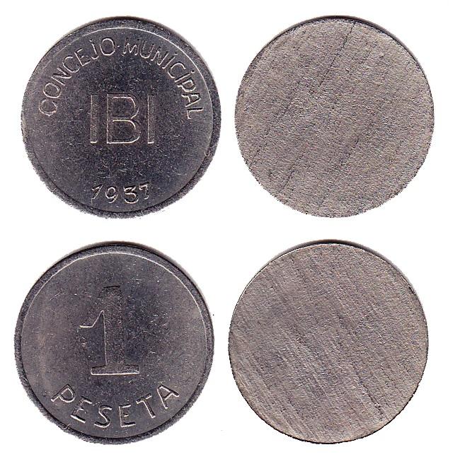 Pruebas de las monedas de 1 peseta de Ibi en níquel Imagen_del_lote_712