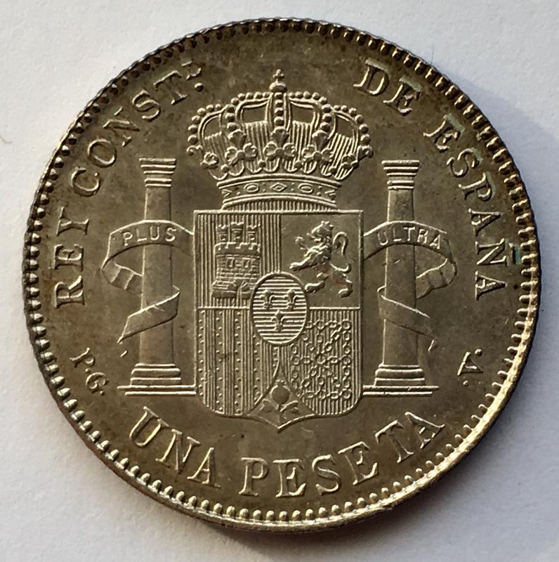 1 peseta 1896. Alfonso XIII. Keko dedit 886623_A4-9_D8_F-49_EA-9195-50787_C9_BCE44