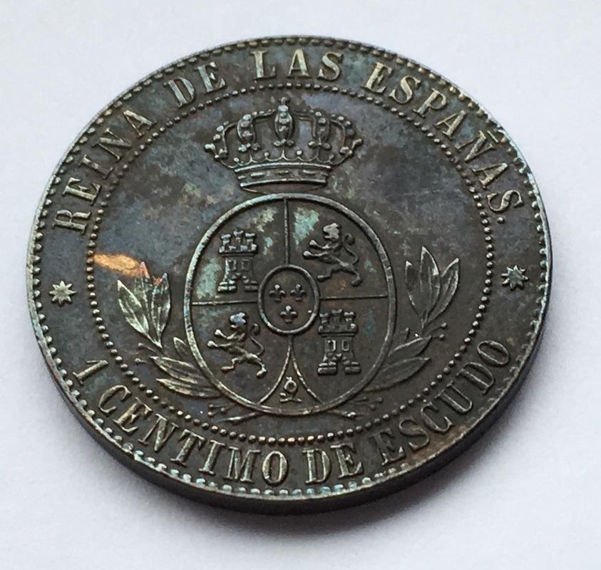1 céntimo de escudo 1866. Isabel II. Barcelona. Sin O.M. IMG_9226