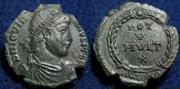 AE3 de Joviano. VOT / V / MVLT / X dentro de corona.  Ceca Aquileia. IMG_9285