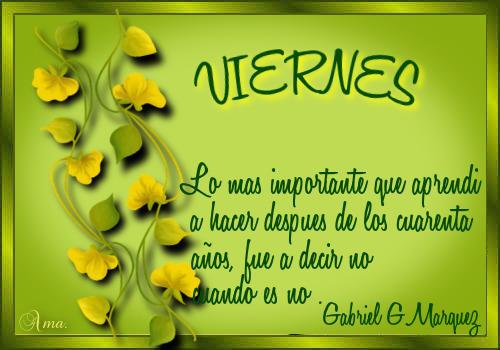 Hojas con Frase VIERNES