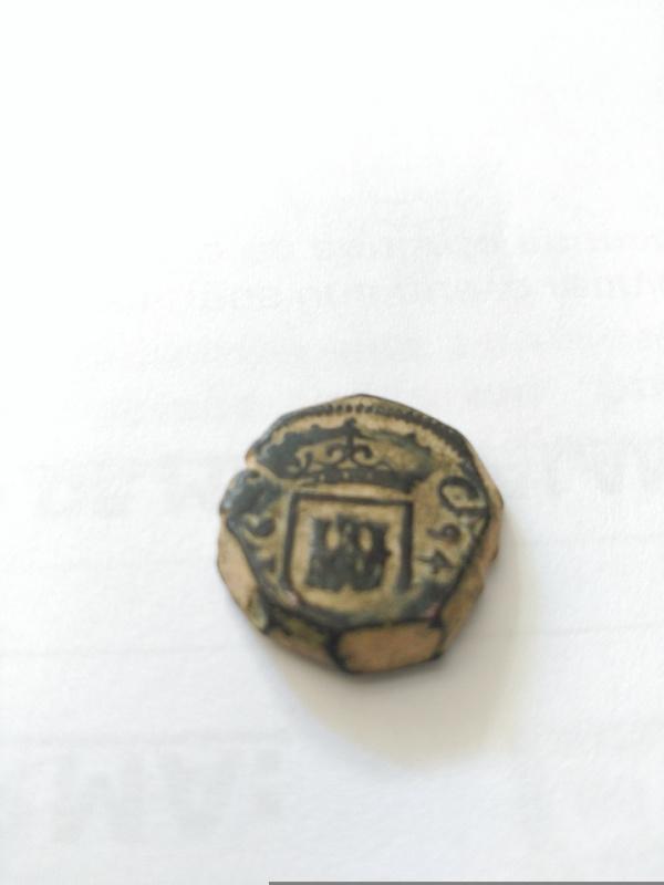 2 maravedís de Carlos II fecha cortada Linares Image