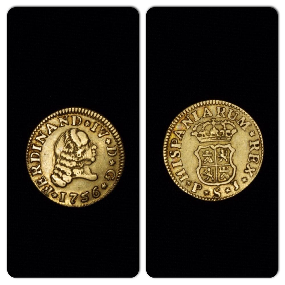 Fernando VI  1/2 Escudo 1755 Sevilla PJ Image