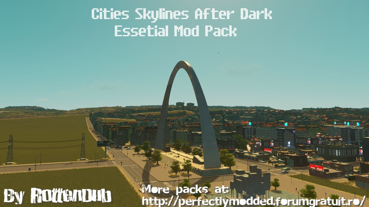 Cities Skylines After Dark Essential Mods Pack CSAFEMP