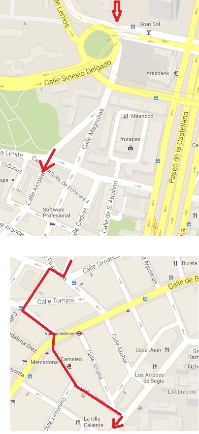 Madrid: ¿cual es la mejor ruta de mi casa al trabajo? O entre A y B. Image