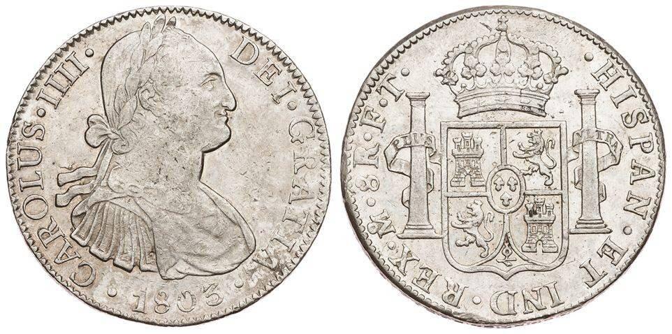 Carolus IIII 8R 1803 Mexico Image