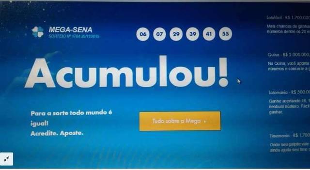 Mega Sena Acumulou