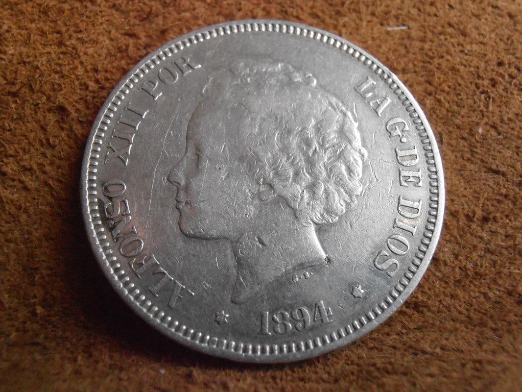 5 Pesetas 1894. Alfonso XIII P2250007