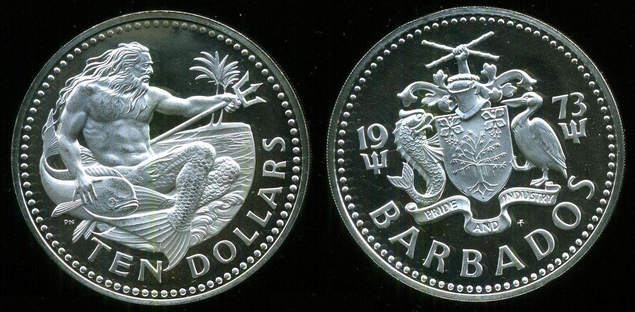 10 Dólares 1973. Barbados 0_0_0_10_dolares_barbados_1973