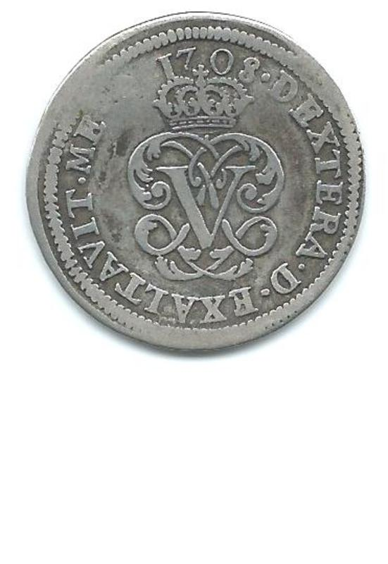 2 reales Felipe V 1708 de Segovia Image