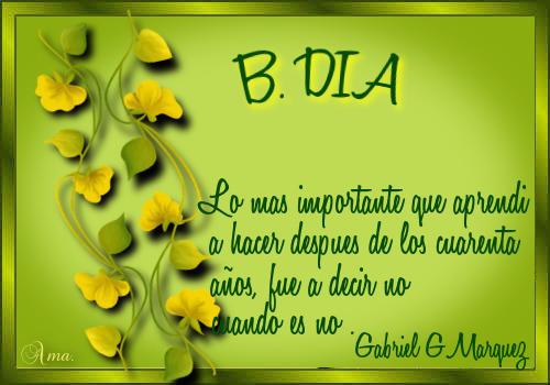 Hojas con Frase DIAS