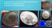8 reales 1821 Fernando VII Zacatecas. Opinión Lotereales3