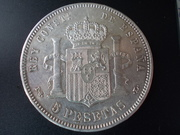 5 Pesetas 1.893. Alfonso XIII. PGL. Con repinte DSCN1497
