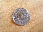 8 maravedis repintado de felipe IV, 1661 a 1664 P1150128