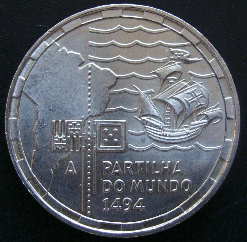 200 Escudos. Portugal (1994) Partición del mundo POR._200_Escudos_500_Aniversario_Partici_n_del_Mundo_-_rev