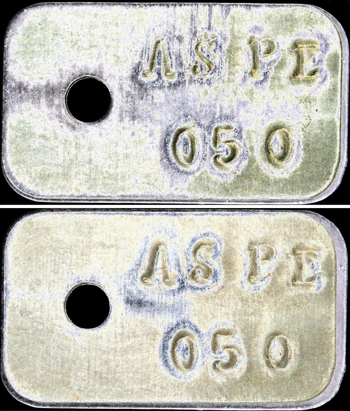 50 céntimos de Aspe. Guerra Civil Española. Comparacion_jesusdelrio_Ovelleiro
