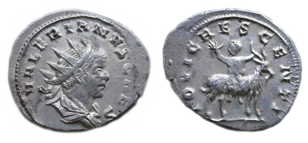 Antoniniano de Valeriano II. IOVI CRESCENTI. Colonia Sin_t_tulo-1