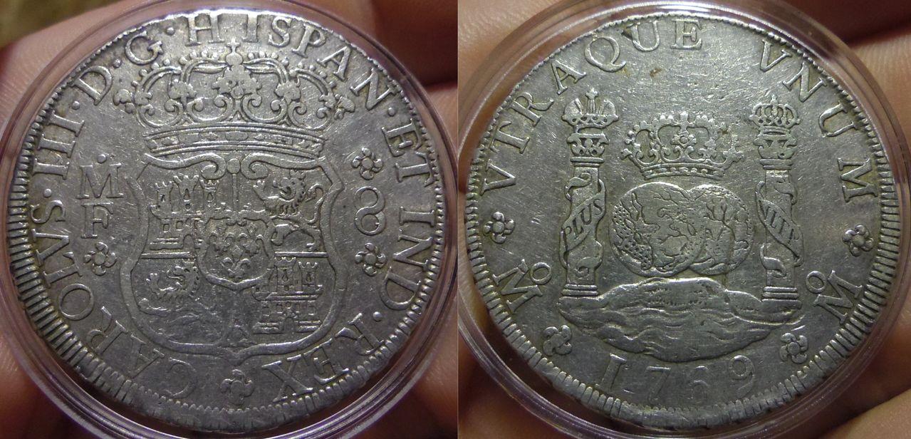 8 Reales Columnario 1769. Carlos III. México IMGP6739
