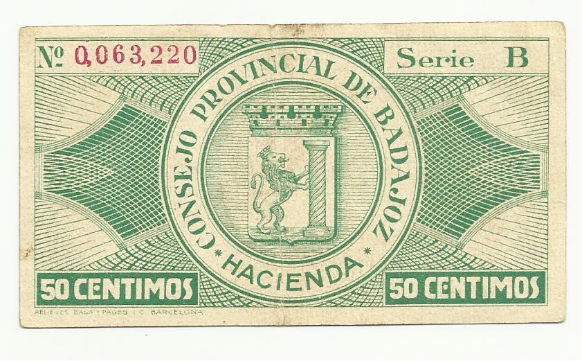 50 Centimos Consejo Provincial de Badajoz 1937 (Bono) 50_centimos_consejo_provincial_de_Badajoz_revers
