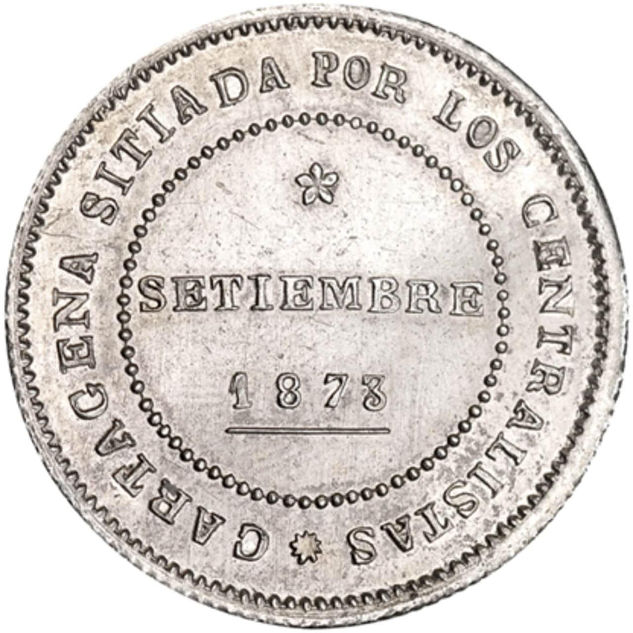 10 reales. 1873. Cartagena. Milagros Jover Navarro dedit, mi madre. 738r