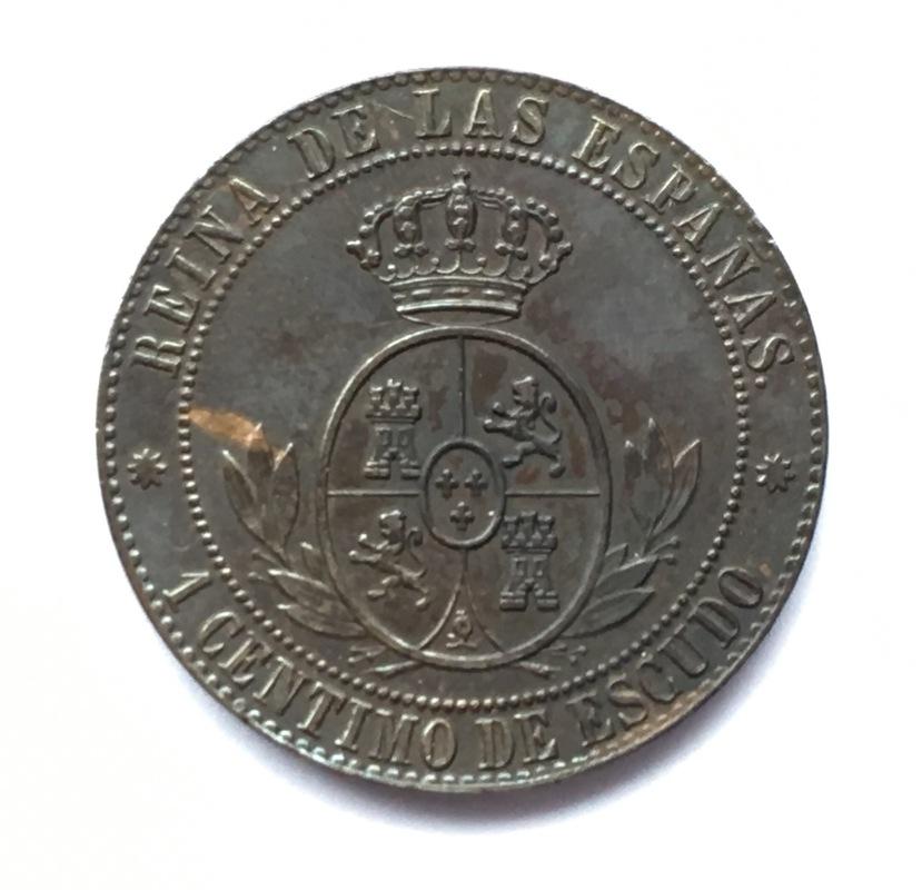 1 céntimo de escudo 1866. Isabel II. Barcelona. Sin O.M. IMG_9227