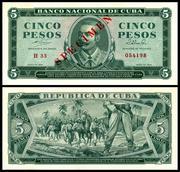 CUBA - 1, 5, 10 y 20 Pesos 1964 Cuba_95s_5_Pesos_1964
