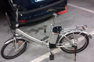 Vendida bicicleta eléctrica plegable motor trasero 36v Thump_9419202img20140918105841846