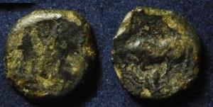AE12. Lucania. Poseidonia, 420-390 A.C. Thump_86823023-gre