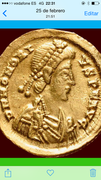 Sólido de Honorio. VICTORI-A AVGGG. Ceca Roma. Honorius20