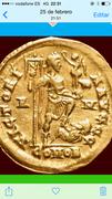 Sólido de Honorio. VICTORI-A AVGGG. Ceca Roma. Honorius10