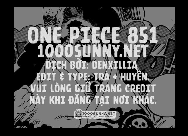 One Piece Chapter 851: Đầu thuốc lá. 000